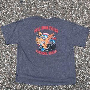FULL BOAR MOTOR CYCLES t-shirt 2XL Useless Texas.